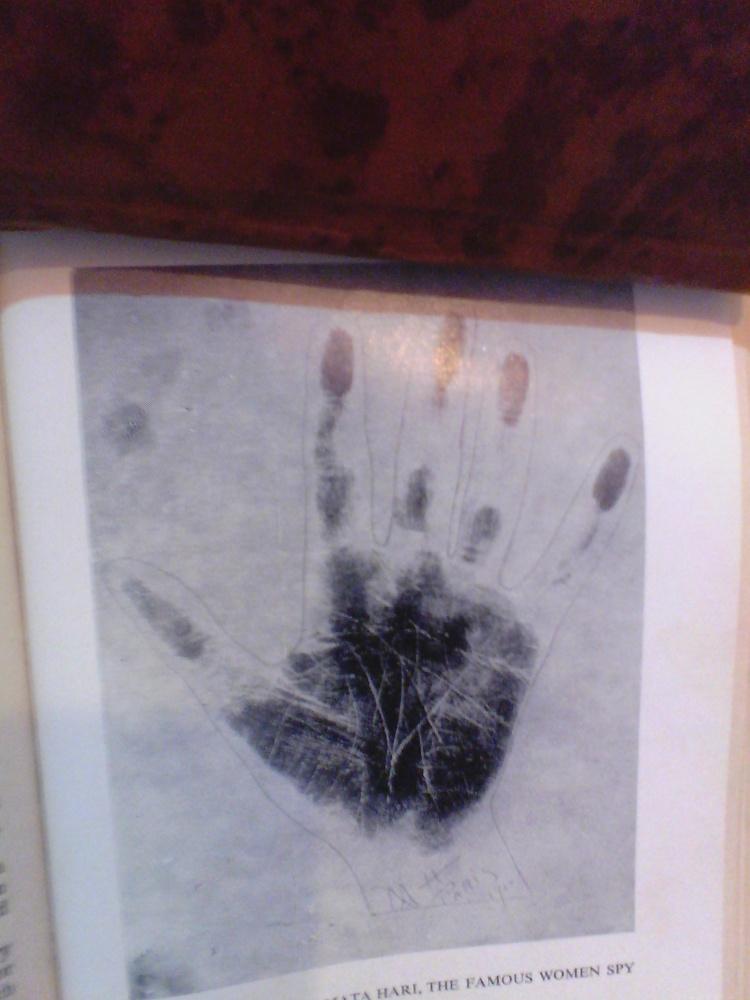 Hand Print of Mata Hari
